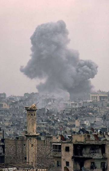 Ofensivo em Aleppo das tropas do governo em dezembro de 2016.