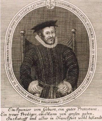 Retrato de Casiodoro de Reina.