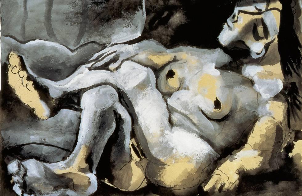 'Mujer desnuda recostada' (1965), de Picasso.