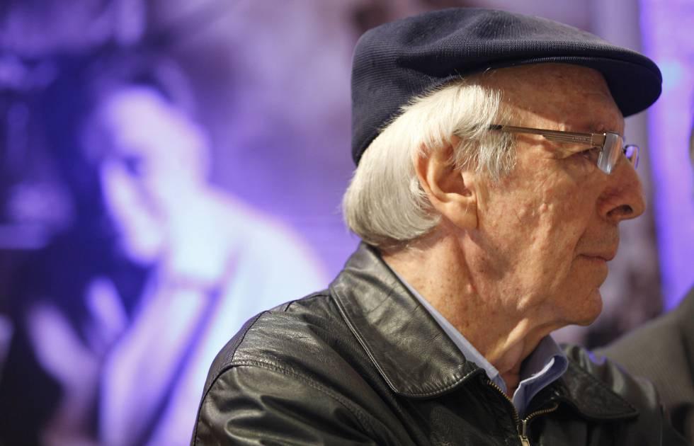 El cantautor Daniel Viglietti, en septiembre de 2015, en Montevideo (Uruguay).
