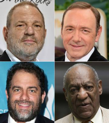 Harvey Weinstein, Kevin Spacey, Brett Ratner y Bill Cosby.