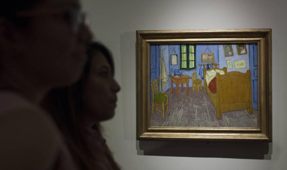 Dormitorio en Arlés, de Van Gogh, en en Palacio de Bellas Artes