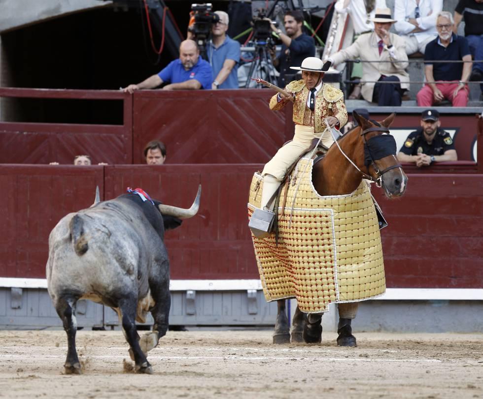 El toro Liebre, de la ganadería de Rehuelga, lidiado el 7 de junio en Las Ventas.
