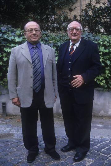 Manuel Vázquez Montalbán y Andrea Camilleri en 1999.