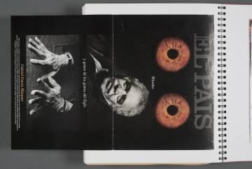 Portada de El País Semanal que García Márquez guardaba en uno de sus cuadernos personales.