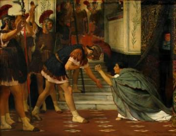 Claudio implora ente los pretorianos que deciden nombrarlo emperador tras el asesinato de Calígula, en una pintura de Alma-Tadema de 1869.