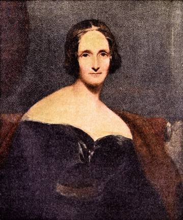 Retrato de Mary W. Shelley.