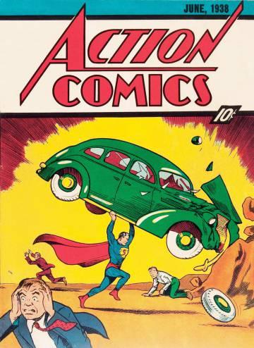 Capa do primeiro quadrinho em que Superman apareceu, em junho de 1938.