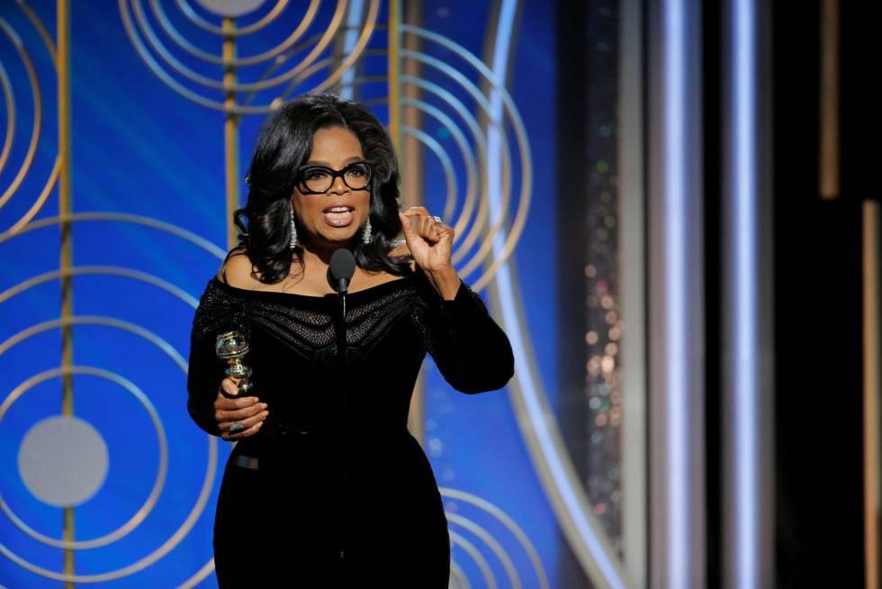 Oprah Winfrey, durante su discurso.