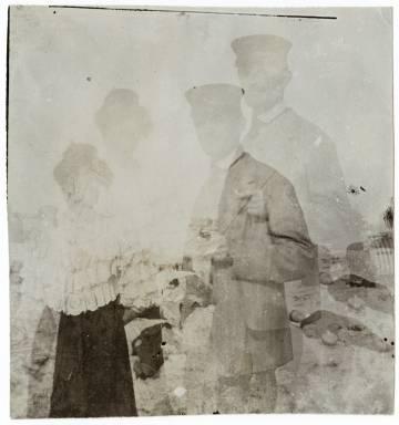 Edvard Munch y Rosa Meissner en Warnemünde, 1907