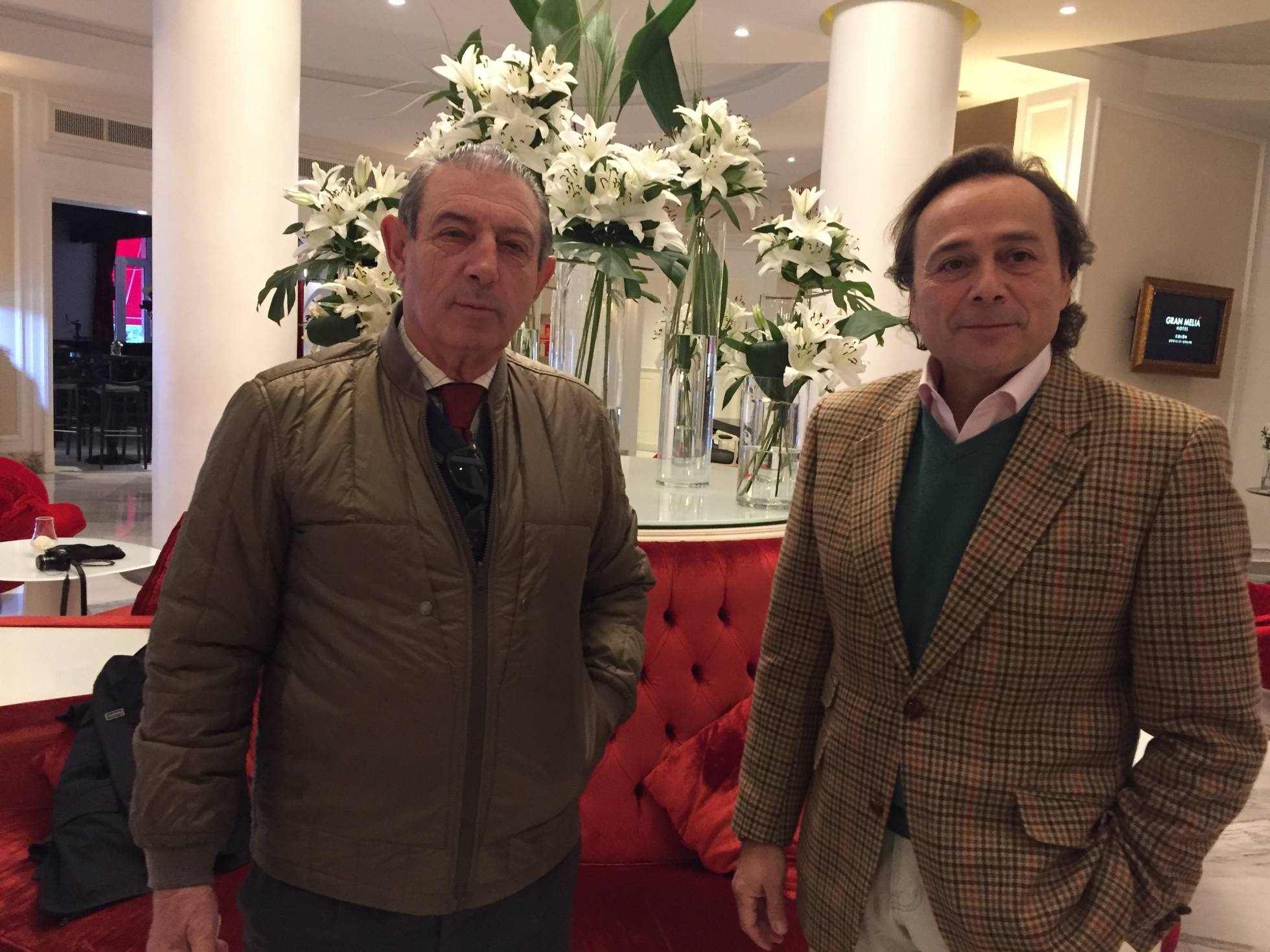 Juan Miguel Mejías, a la izquierda, y Francisco Herrera.