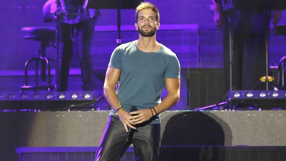 Pablo Alborán, durante una actuación en 2016.