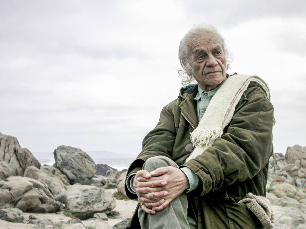 Nicanor Parra, en 2009, en Las Cruces (Chile).