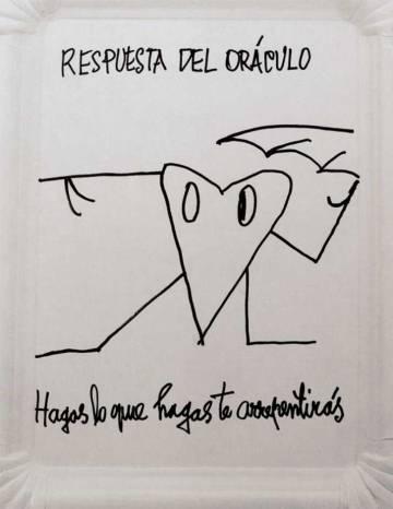 Uno de los poemas visuales de Nicanor Parra.