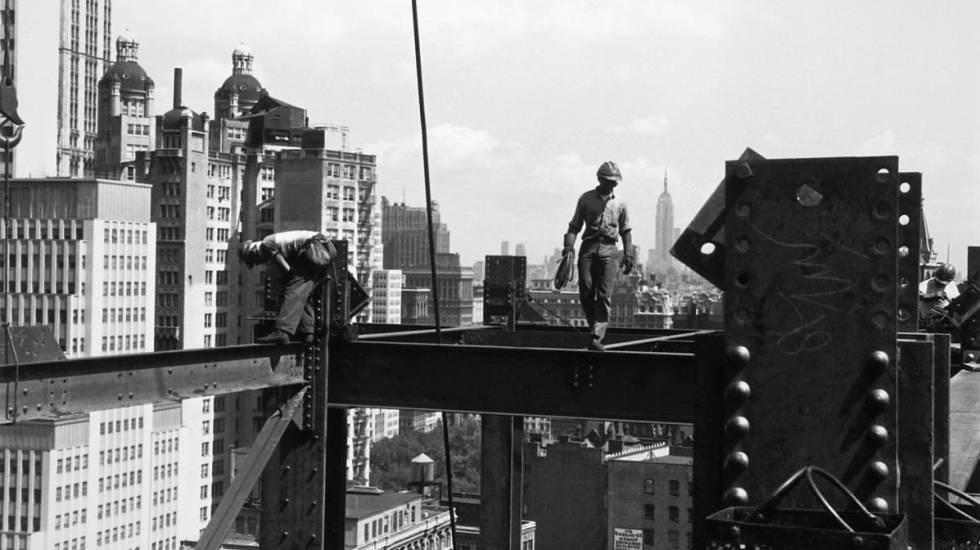 Construcción de los años sesenta en Nueva York.