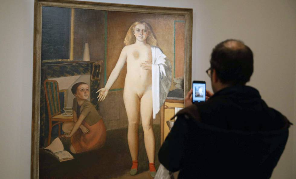 La obra 'La habitación' (1947-1948) de Balthus, que la Fundación Mapfre Recoletos en Madrid muestra en la exposición 'Derain, Balthus, Giacometti. Una amistad entre artistas'.