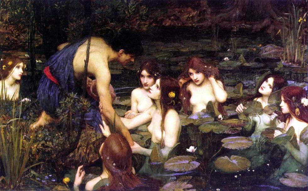 'Hylas y las ninfas' de John William Waterhouse.