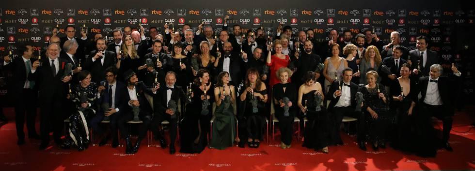 Los premiados de los Goya 2018, en imágenes