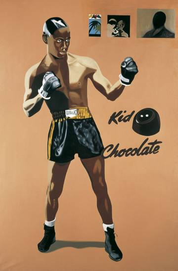 La forza del destino: Kid Chocolate (1972), obra de Eduardo Arroyo.