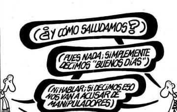Primera viñeta publicada por Forges en EL PAíS en junio de 1995.