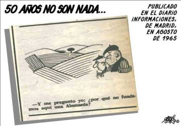 Una de las primeras viñetas de Forges, publicada en 'Informaciones'.