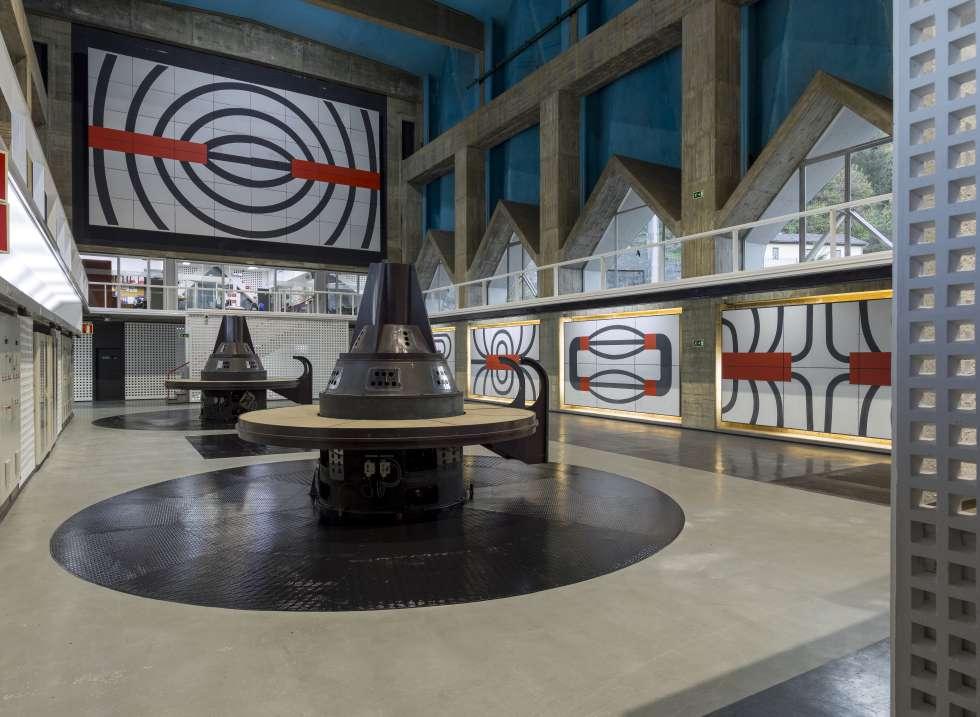 Integración artística en la central hidroeléctrica de Proaza (Asturias), 1964-1968.