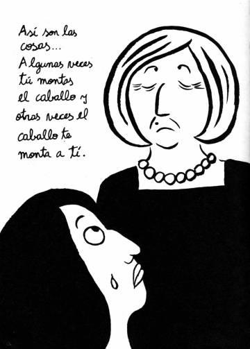 Ilustración de 'Bordados', de Marjane Satrapi.