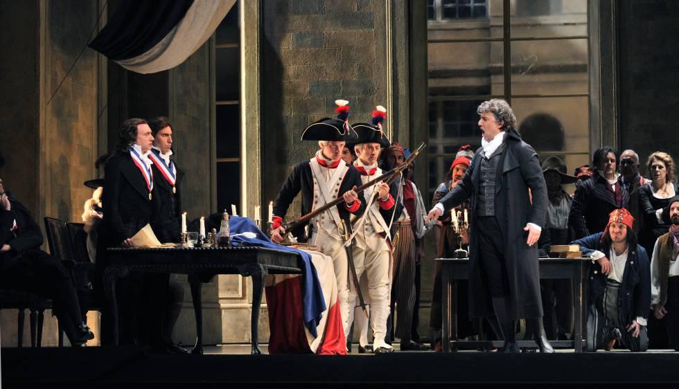 Kaufmann durant un dels assajos de l'òpera al Liceu.