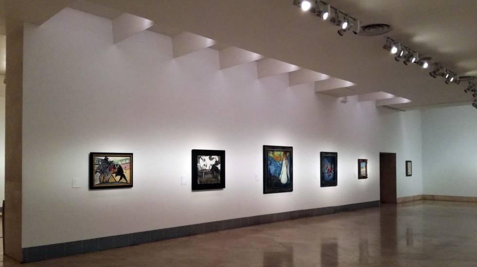 Los cuadros del thyssen ganan luz cultura el pa s - Iluminacion para cuadros ...