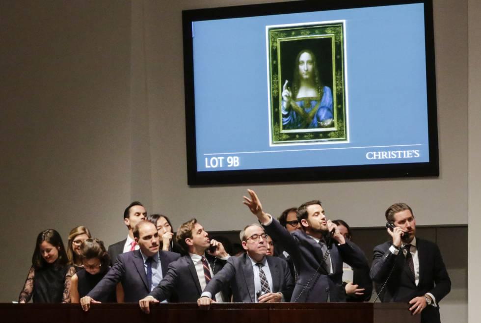Subasta del 'Salvator Mundi', el 15 de noviembre en la sala Christie's de Nueva York.rn