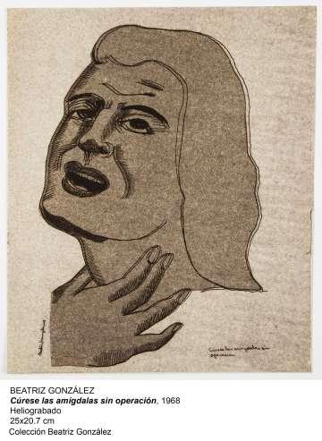 'Cúrese las amígdalas sin operación' (1968), de Beatriz González.