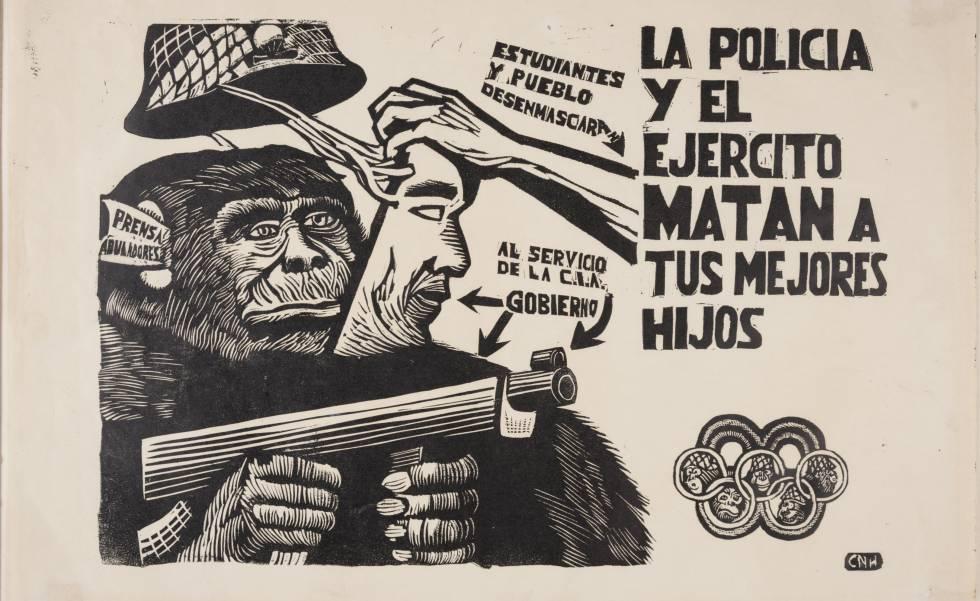 Recuerdo gráfico de la masacre de Tlatelolco