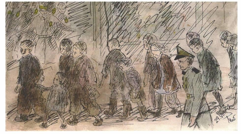 Pintura de Helga Weissova.