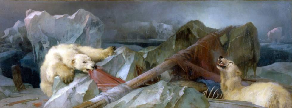 Alegoría pictórica de la destrucción de la expedición Franklin.