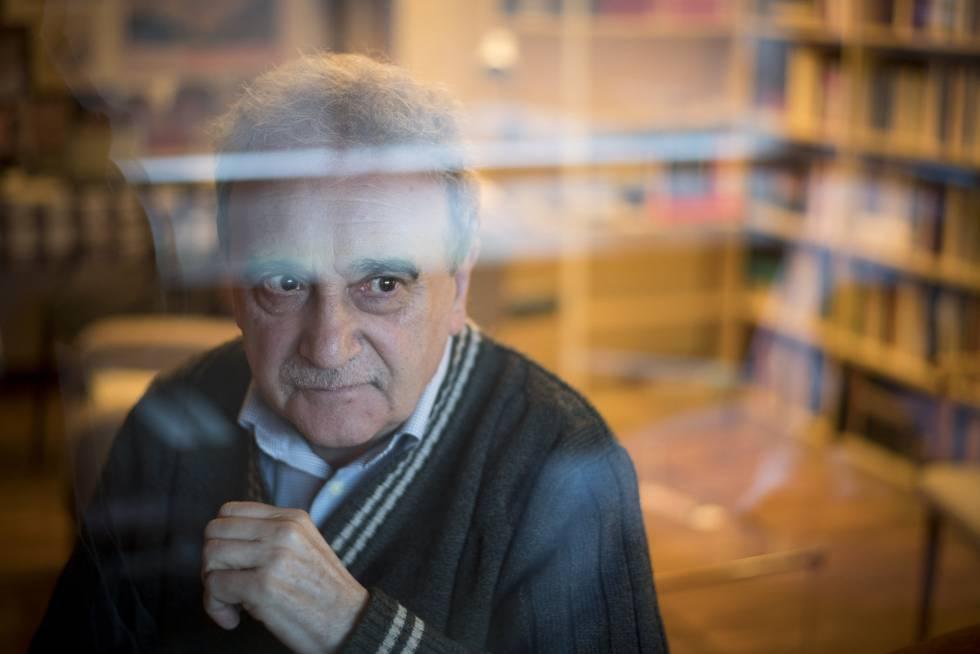 El escritor Manuel Longares, el pasado 16 de marzo en Madrid.