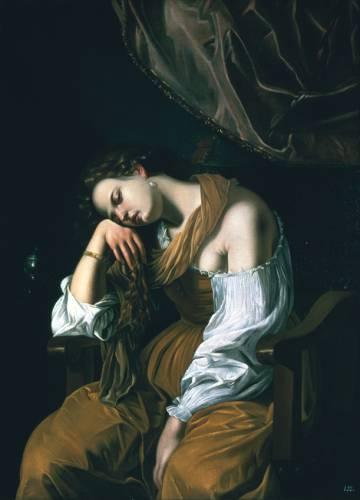 'María Magdalena como Melancolía', de la pintora Artemisia Gentileschi.