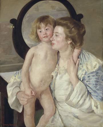 Madre e hijo o El espejo ovalado The Metropolitan Museum of Art.
