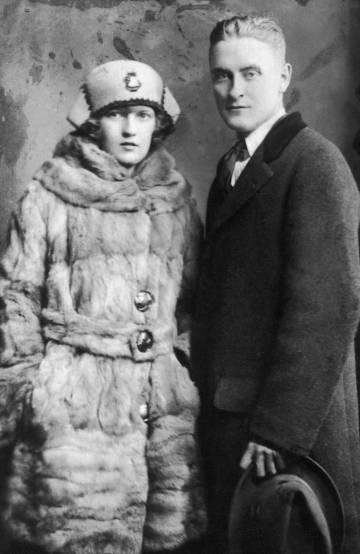 Francis Scott Fitzgerald y su mujer, Zelda, en 1921.