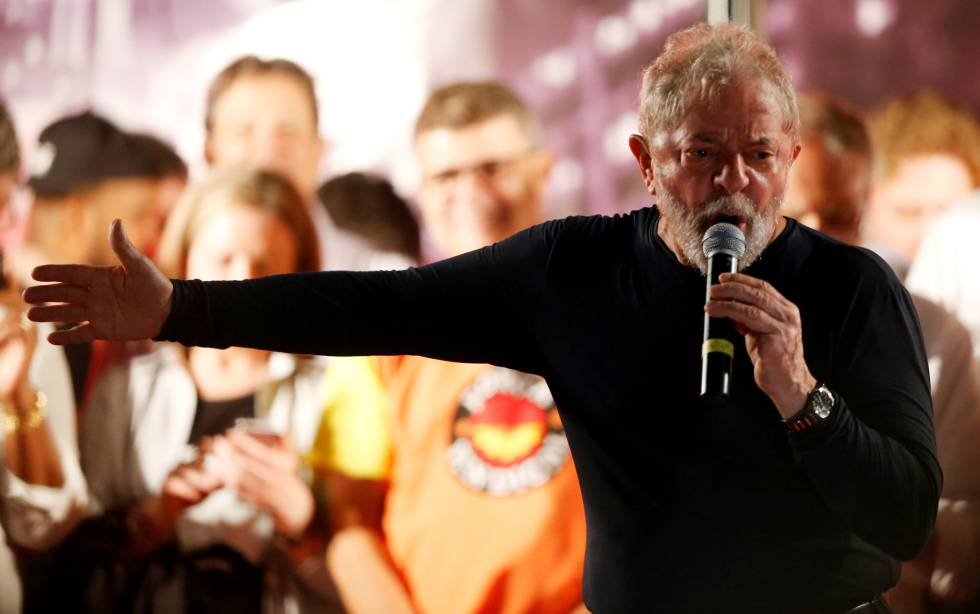 Lula da Silva este miércoles en un acto en Curitiba.