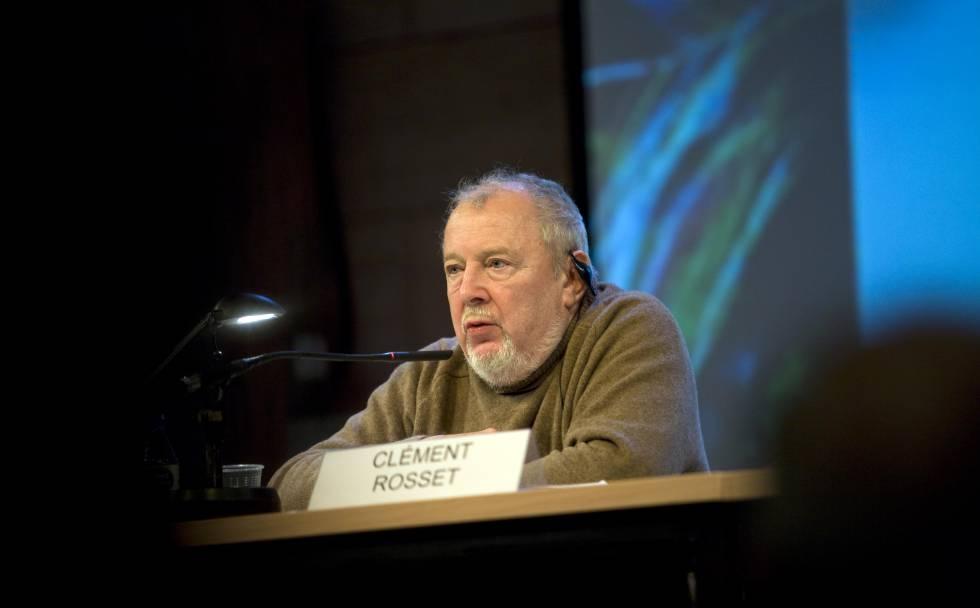 El filósofo francés Clément Rosset, en Barcelona en 2009.