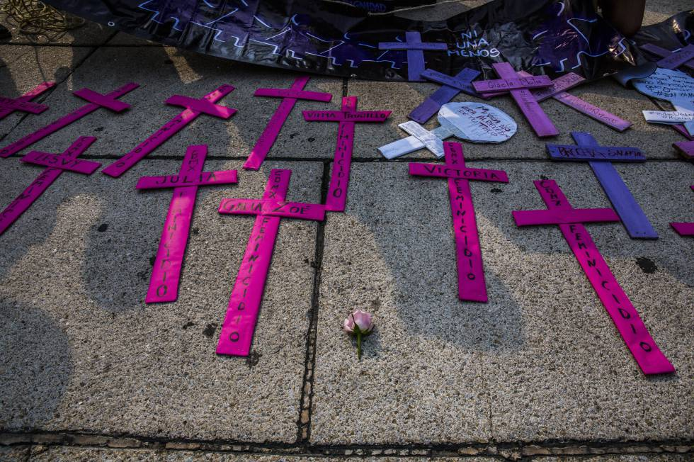 Protesta contra el feminicidio el pasado Día Internacional de la Mujer Trabajadora en Ciudad de México.