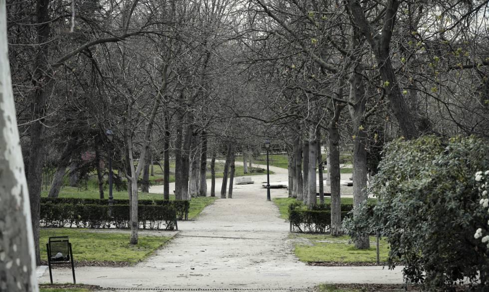 El Parque del Retiro, cerrado al público.