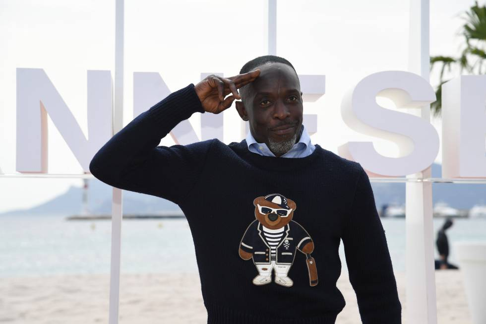 Michael Kenneth Williams posa en el Festival de Cannes.