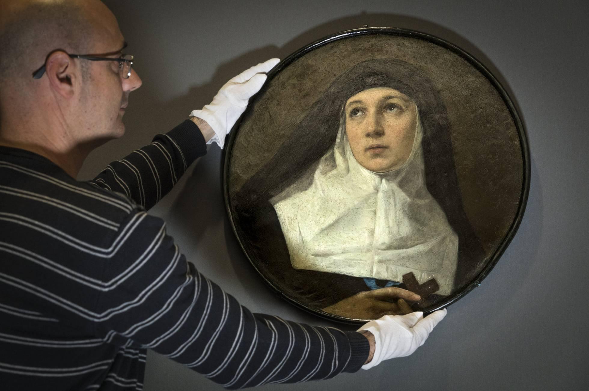 Nuevo cuadro de Murillo, realizado sobre bronce, que ha permanecido inédito tres siglos y medio y ha sido presentado en el Museo de Bellas Artes de Valencia. MÒNICA TORRES