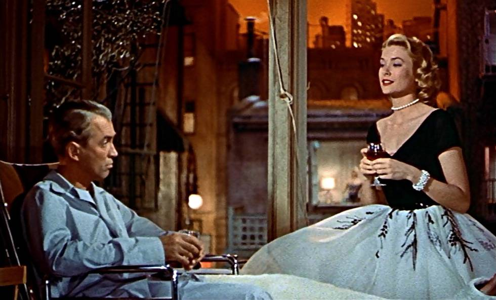 Grace Kelly y James Stewart en 'La ventana indiscreta'.