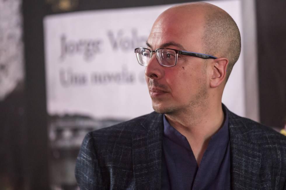 Jorge Volpi, durante la presentación de su libro Una novela criminal