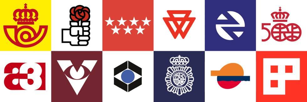 Logotipos creados por el diseñador gráfico José María Cruz Novillo en las últimas décadas.