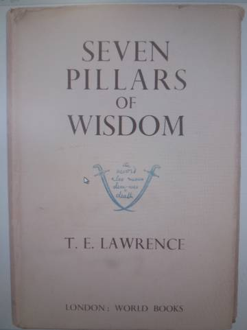 Portada de la edición de Borges de 'Los siete pilares de la sabiduría' deT. E. Lawrence.