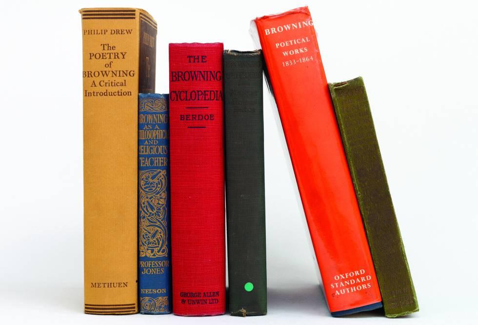 Libros de la biblioteca de Borges.