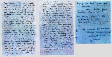 La carta de Ana Frank a su amiga Juanita Wagner.